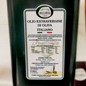 Olio extravergine d'oliva Lucania Food 5 lt